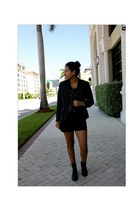 Call it Spring boots - MNG by Mango blazer - Forever21 shorts
