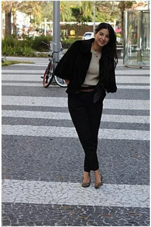 Steve Madden shoes - Sine New York coat - MNG by Mango sweater - Zara pants