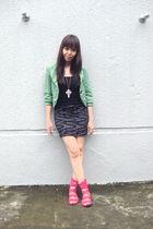 Topshop blazer - Miss Selfridge top - Forever 21 skirt - Zara shoes - Forever 21