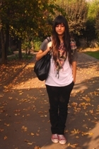 Zara jeans - Zara shirt - scarf - Converse shoes - Target purse - Topshop sweate