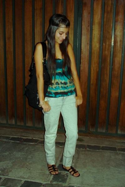 blue cotton Charlotte Ruse shirt - gray Pepe Jeans jeans - black Sibilla bag
