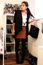 black Sixty Seven boots - black Monki blazer - white Bershka shirt - bronze H&M