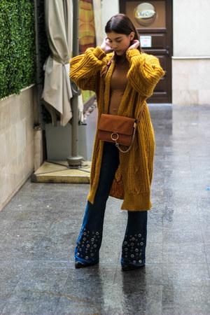 zaful bag - Sofi&Co jeans - zaful cardigan