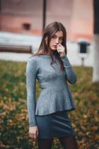 Sheinside boots - Sheinside sweater - handmade skirt