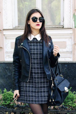 Sheinside dress - Missguided jacket - Aldo bag - Boohoo loafers