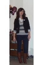 forever 21 blazer - Old Navy sweater - Express blouse - los angeles It jeans jea