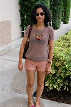 tan Old Navy shirt - brown Marc by Marc Jacobs bag