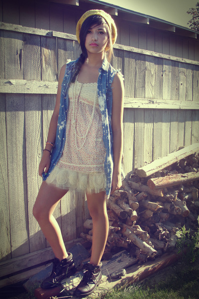 Wetseal skirt - moms boots  boots - gold Target hat