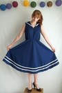 Sailor-cotton-vintage-dress