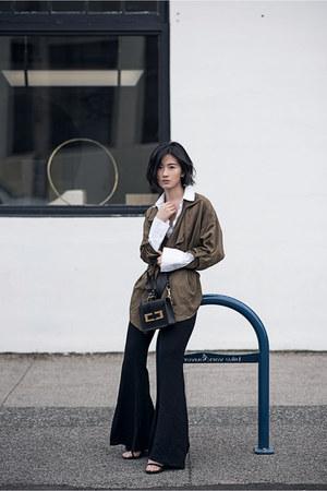 black stuart weitzman heels - black Zara pants
