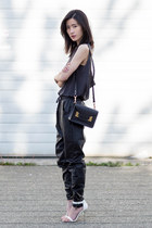 black Chaser top - black Sophie Hulme bag - black MinkPink pants