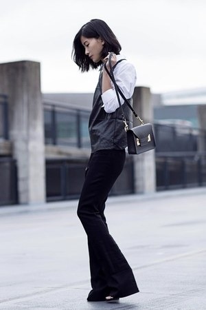 black hyphen the label top - white H&M shirt - black Raoul pants