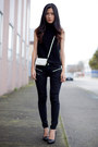 Black-mango-sweater-black-zara-heels-black-mango-pants-white-mango-wallet