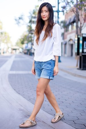 ivory Joe Fresh blouse - blue 7 for all mankind shorts