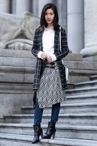 black asos skirt - blue J Brand jeans - navy Chicwish blazer
