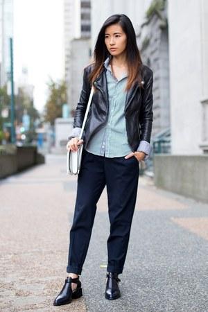black Senso boots - black Viparo jacket - navy Zara pants