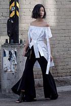 black Zara pants - black sam edelman boots