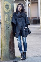 Sheinside coat - blue wellbinder jeans