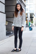 black rupert sanderson flats - silver BB Dakota sweater