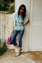 blouse - jeans
