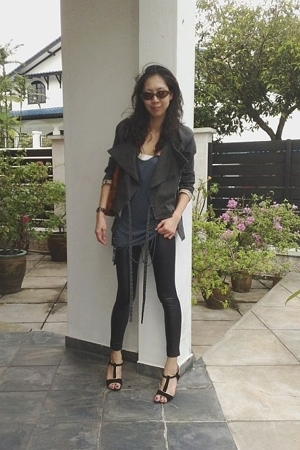 fifilles leggings - henry lau blazer - Paul and Joe Sister shoes