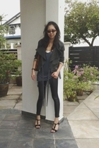 fifilles leggings - henry lau blazer - Paul and Joe Sister shoes