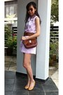 Light-pink-no-brand-romper-brown-leather-ferragamo-bag