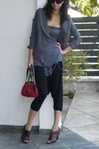 Baylene blazer - Something Else top - rosa fashion pants - Pour La Victoire shoe