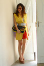 Blue-vintage-bag-yellow-baylene-vest-brick-red-american-apparel-skirt-whit