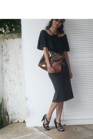 somthing new blouse - robert rodriguez skirt