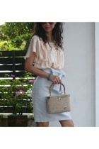 Marc by Marc Jacobs skirt - - blouse - vintage purse