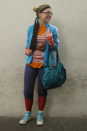 adidas jacket - scout jeans - Calzedonia tights - Converse shoes - H&amp;M