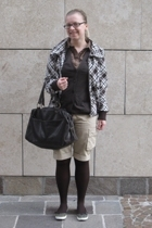 H&M jacket - united colors of benetton - Blutsgeschwister blouse - Sisley shorts