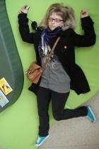 EDC coat - Zara scarf - EDC - Wrangler jeans - Lacoste shoes - Harolds