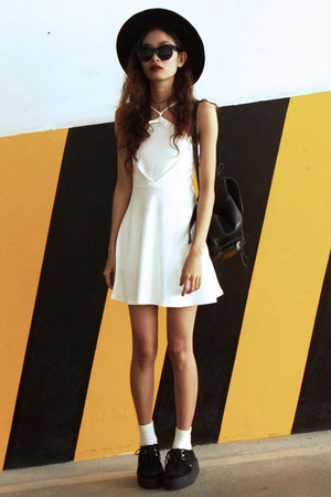 white Modparade dress