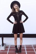 black Dr Martens boots - black Motel Rocks dress