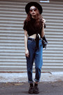 Navy-blackfive-jeans-dark-brown-lovelywholesale-sunglasses-black-tuk-flats