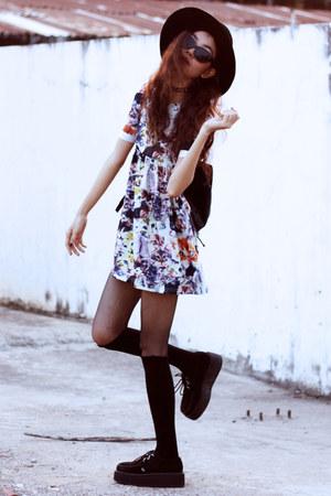 black TUK shoes - white blackfive dress