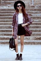 crimson Thrift Store blazer - black Dr Martens boots - black Choies shorts