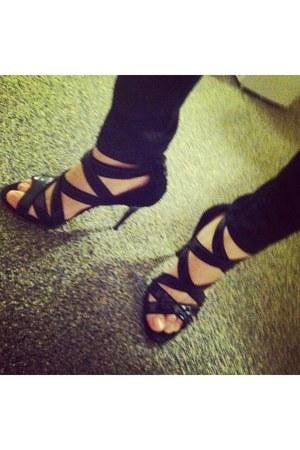 strapped BCBG max heels