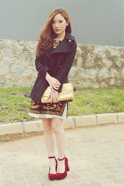 Kristines Collection dress - navy woolen Do a fashion coat