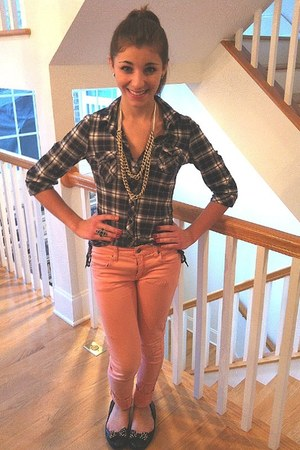 Charlotte Russe shirt - pants - necklace