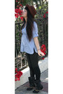 Black-faux-leather-charlotte-russe-boots-crimson-100-wool-vintage-hat-black-