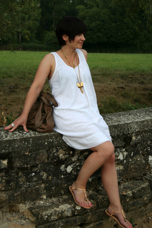 ba&sh dress - Ela Stone necklace - Jerome Dreyfuss purse - Frye shoes - Chanel a