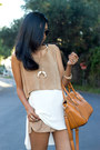 Light-brown-suede-cropped-again-top-ivory-chiffon-tank-lush-top