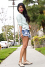 Mint-zara-sweater-vintage-levis-shorts-society-wears-ring