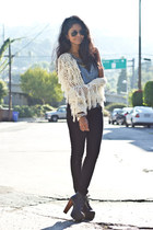 fringed Lumiere jacket - litas Jeffrey Campbell boots - zipped BDG jeans