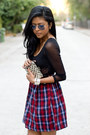 Tint-lens-ray-ban-sunglasses-brick-red-flannel-90s-shown-to-scale-dress