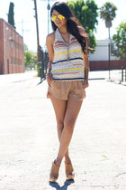 house of harlow bracelet - key cuff wrap Low Luv bracelet - satin Zara shorts