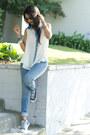 Jeans-top-sneakers